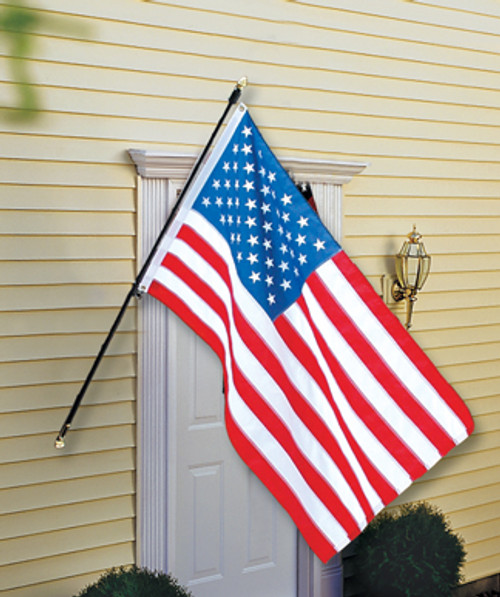 "Complete Regal  Flag Set - 3/4"" Black Pole"