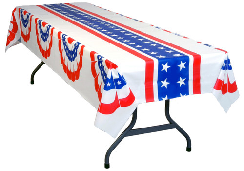 American Patriotic Tablecloth - Pleated Fans