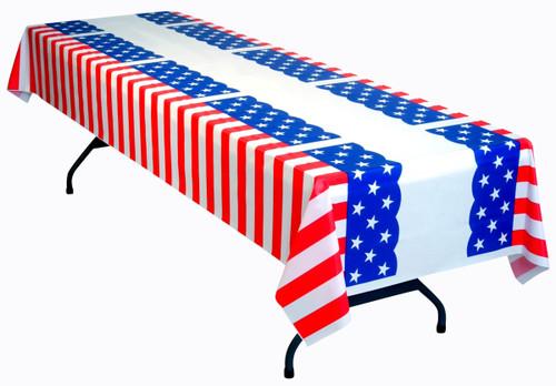 American Patriotic Tablecloth - Stars & Stripes