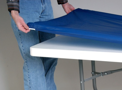 American Patriotic Fitted Tablecloth - Blue