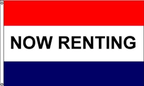 Patriotic Message Flags - Now Renting - Nylon - 3' x 5'