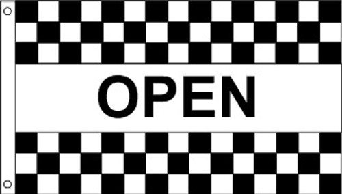 Patriotic Message Flags - Black & White Open - Nylon - 3' x 5'