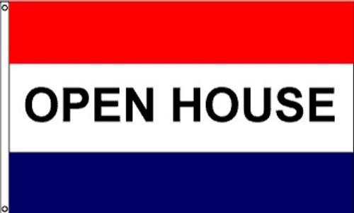 Patriotic Message Flags - Open House - Nylon - 3' x 5'