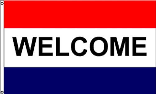 Patriotic Message Flags - Welcome - Nylon - 3' x 5'