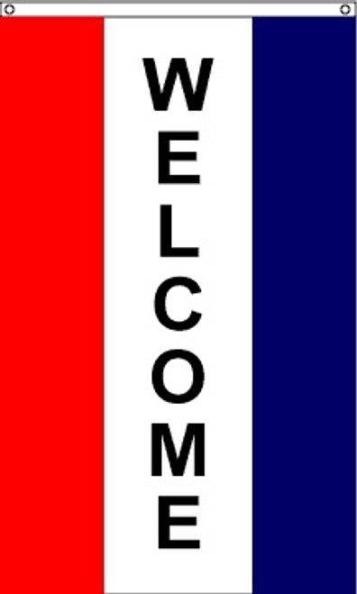 Patriotic Message Flags - Welcome Vertical - Nylon - 5' x 3'