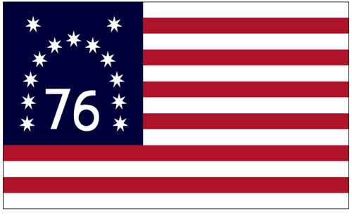 U.S Historical Flag - Benington - Nylon - 3' x 5'