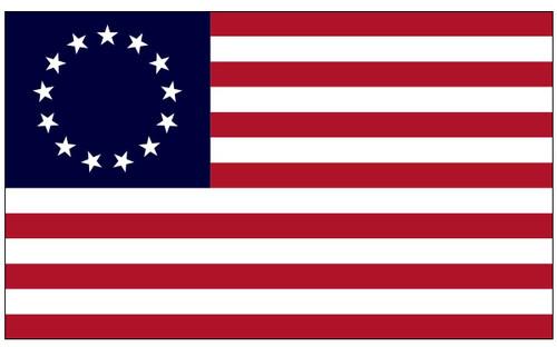 U.S Historical Flag - Betsy Ross - Nylon - 3' x 5'