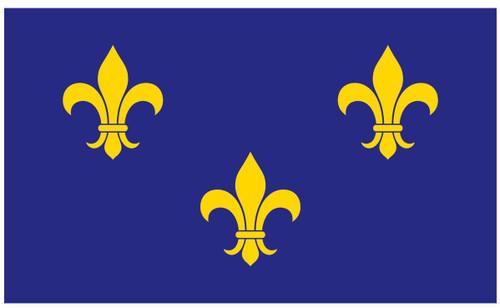 U.S Historical Flag - Fleur-De-Lis - Nylon - 3' x 5'