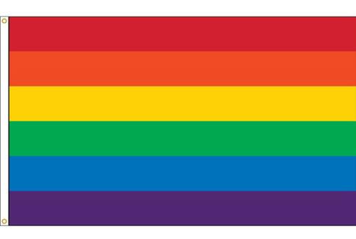 Celebration Flag - LGBT Rainbow - Nylon - 2' x 3'