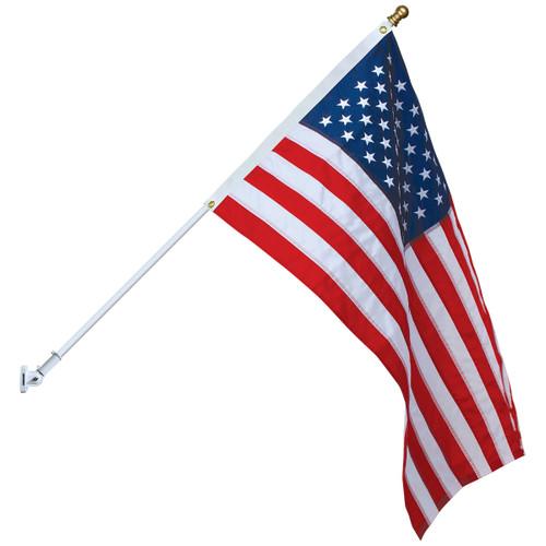 Spinning Flag Pole Set - White