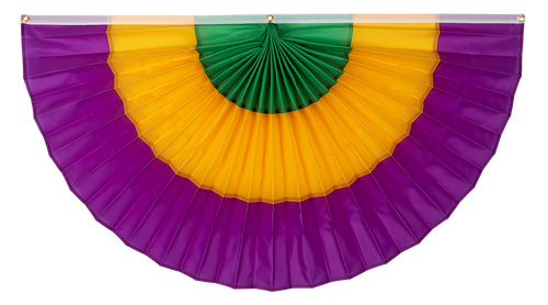 Mardi Gras Pleated Fan