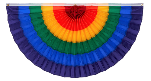 Gay Pride Pleated Fan