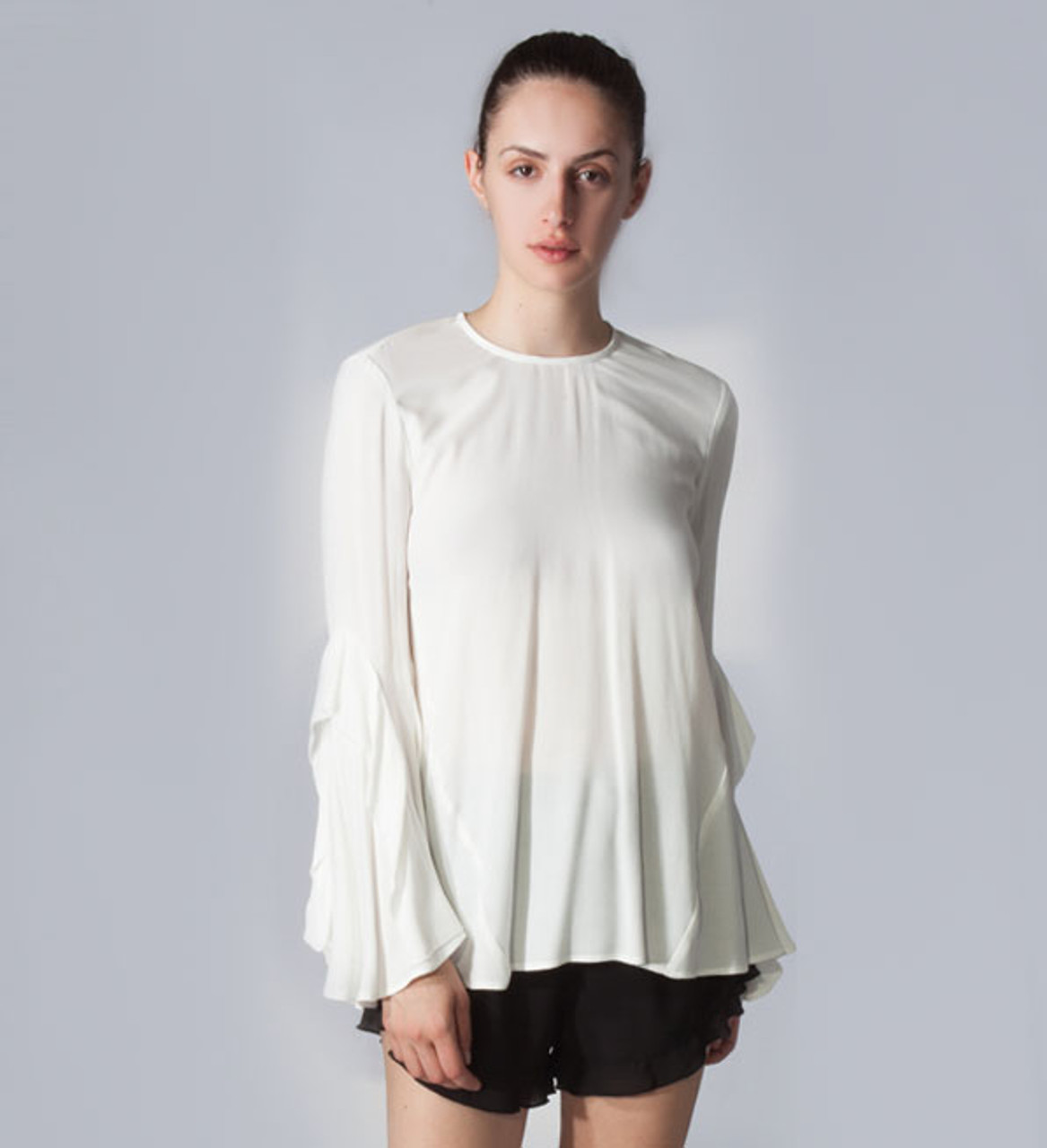 6a68e478c259d Rebecca Vallance Ivory Flagler Frill Sleeve Top