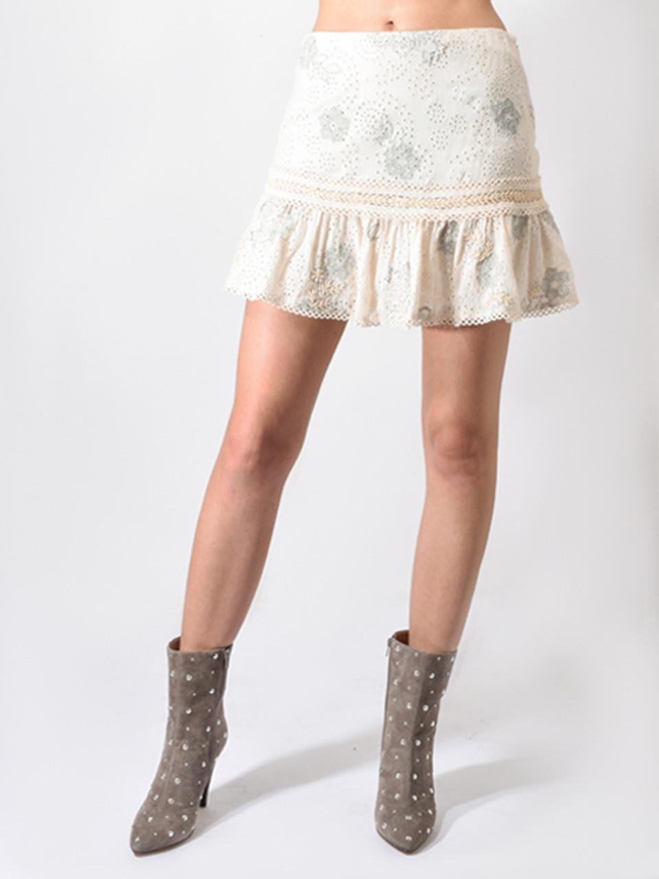 9f10b778c Love Sam Lucy in the Sky Mini Skirt in Ivory