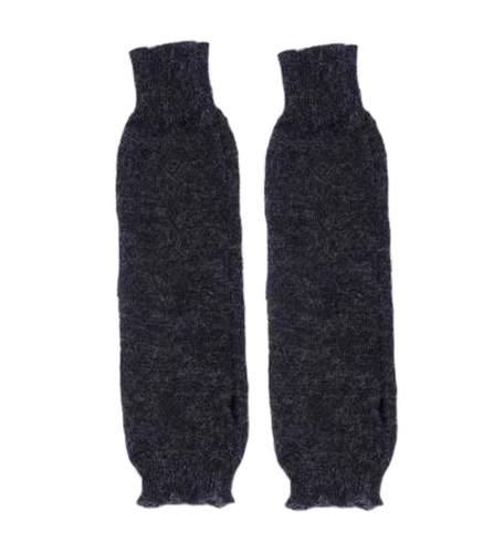 Falling Arm Warmers in Charcoal