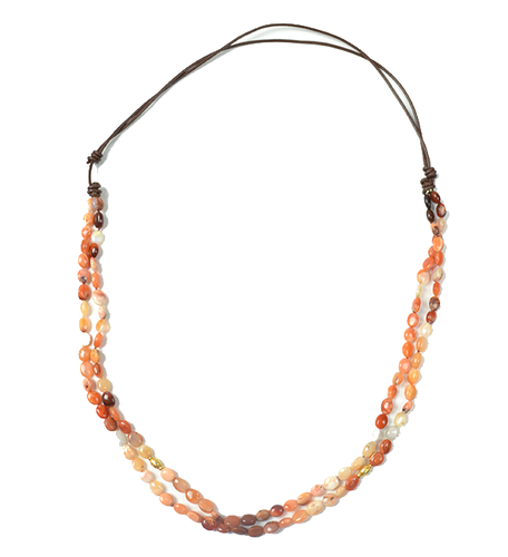 Mexican Fire Opal 20k Gold Necklace