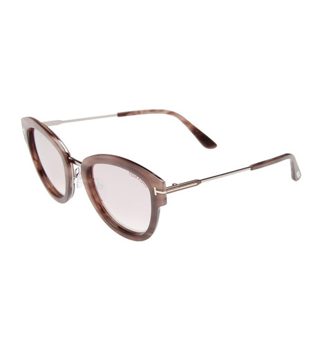 Tom Ford Mia Sunglasses in Tortoise w/ Pink Lens