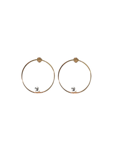 Jenny Bird Saros Hoops in Gold & Silver