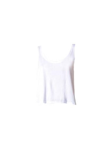 JET John Eshaya Jersey Boxy Tank Top in White