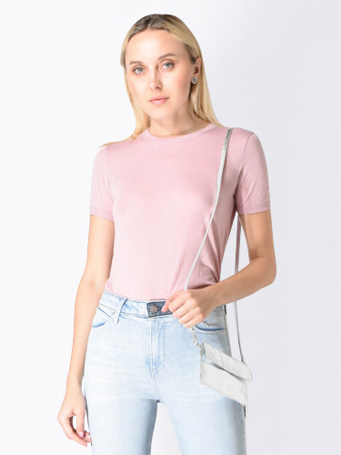 Quinton Ringer Tee in Blush Pink