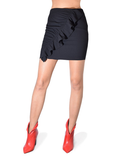 Karina Grimaldi  Danielle Mini Skirt In Black