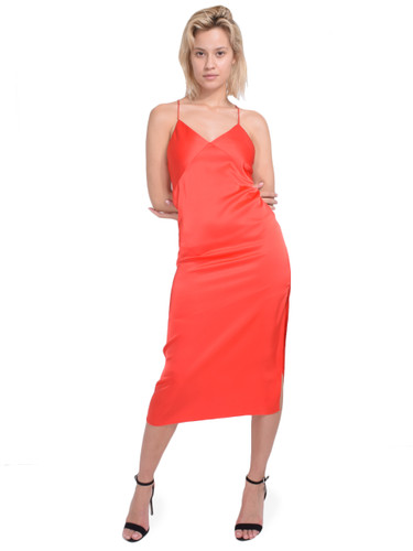 ALICE + OLIVIA Loraine Seamed Slip Midi Dress in Bright Poppy Front View 1  X1https://cdn11.bigcommerce.com/s-3wu6n/products/33197/images/109469/15__56126.1590180189.244.365.jpg?c=2X2