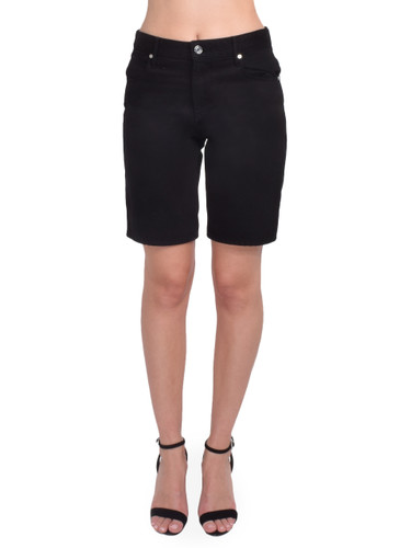 RtA Jami Baggy Short in Black Front View  X1https://cdn11.bigcommerce.com/s-3wu6n/products/33228/images/109550/83__12020.1590625232.244.365.jpg?c=2X2