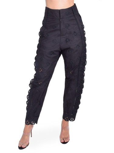 Laurence Bras Peony Eyelet Pants in Black Front View  X1https://cdn11.bigcommerce.com/s-3wu6n/products/33254/images/109745/41__66181.1593644014.244.365.jpg?c=2X2