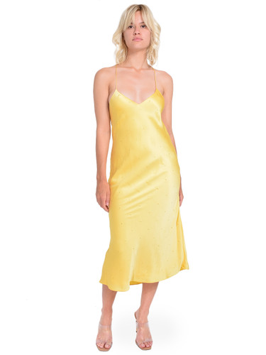 MICHELLE MASON Silk Charmeuse Midi Dress in Butter Front View  X1https://cdn11.bigcommerce.com/s-3wu6n/products/33306/images/109916/137__25701.1594252136.244.365.jpg?c=2X2