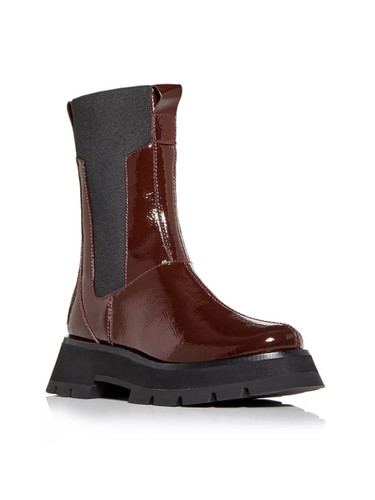 3.1 Phillip Lim Kate Lug Sole Combat Boot in Wine Front View