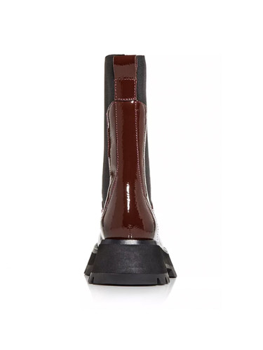 3.1 Phillip Lim Kate Lug Sole Combat Boot in Wine Back View