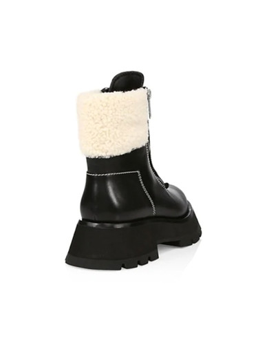 3.1 Phillip Lim Kate Lug Sole Shearling Boot Back View