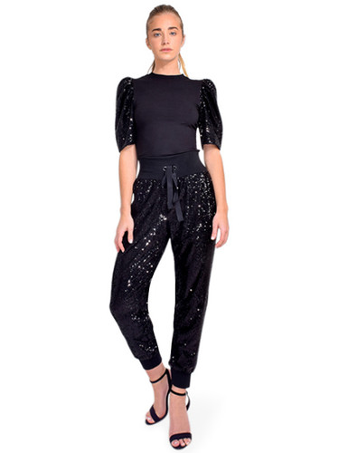 Cinq à Sept Giles Sequin Joggers Full Outfit