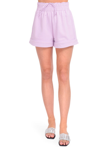 3.1 Phillip Lim French Terry Boxer Shorts in Lavender Front View