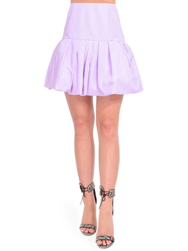 3.1 Phillip Lim Bubble Hem Taffeta Mini Skirt in Lavender Front View