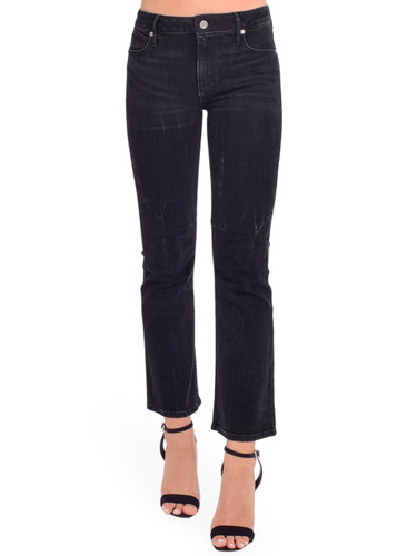 RTA Kiki Cropped Kick Flare in Faded Black Front View