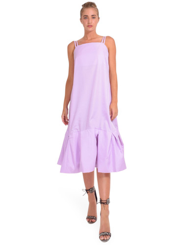 3.1 Phillip Lim Multi Strap A-Line Taffeta Dress in Lavender Front View