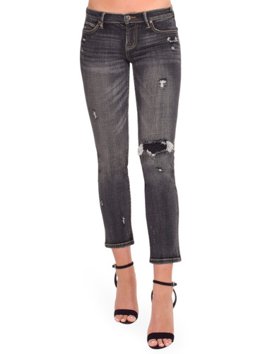 SERRA By Joie Rucker Smashing Low Rise Jeans in Calicut Black Front View