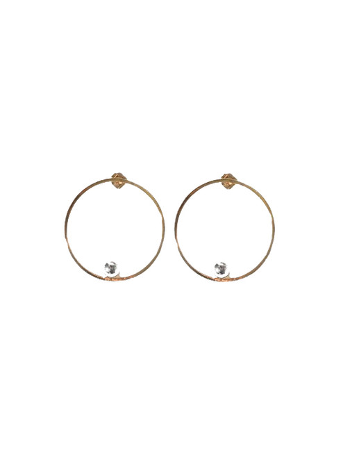Jenny Bird Saros Hoops in Gold & Silver
