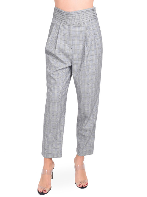 CINQ A SEPT Serenity Pant in Houndstooth Plaid Front View X1https://cdn11.bigcommerce.com/s-3wu6n/products/33398/images/110425/11__63551.1600731699.244.365.jpg?c=2X2