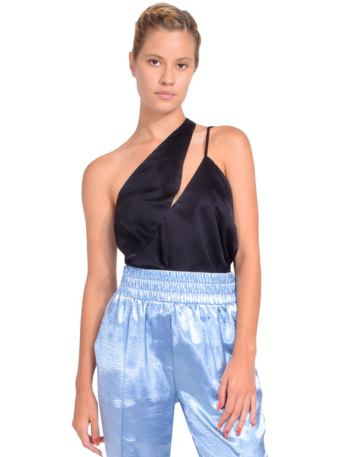 MICHELLE MASON One Shoulder Top in Black Front View  X1https://cdn11.bigcommerce.com/s-3wu6n/products/33414/images/110515/11__32882.1601319323.244.365.jpg?c=2X2