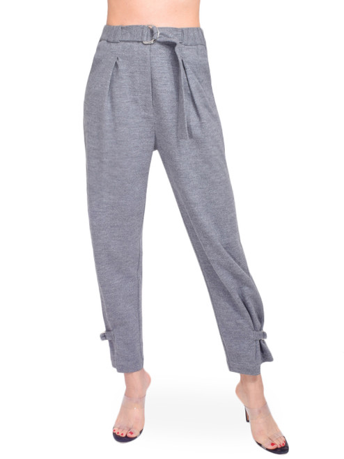 3.1 Phillip Lim Cinched Trouser in Grey Melange Front View X1https://cdn11.bigcommerce.com/s-3wu6n/products/33474/images/110694/105__33032.1602810343.244.365.jpg?c=2X2