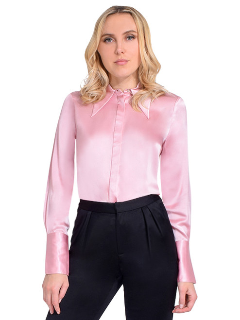 Jessie Liu Mae Gracie Blouse in Pink Front View