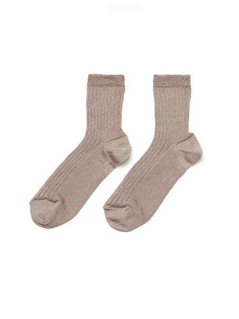Bellerose Metallic Socks in Sand Product Shot  X1https://cdn11.bigcommerce.com/s-3wu6n/products/33622/images/111351/7__29905.1608158519.244.365.jpg?c=2X2
