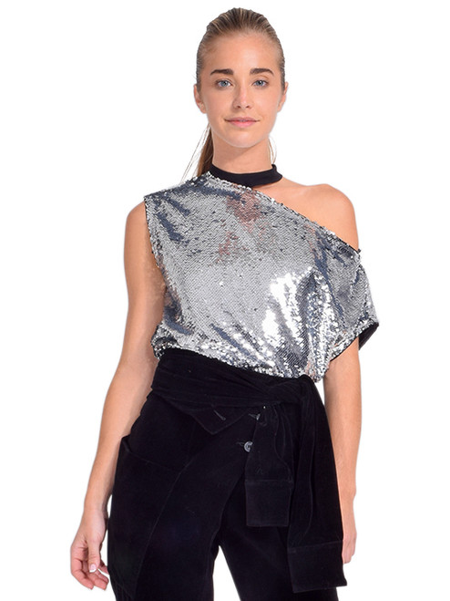 Axel Tee in Silver Sequins Front View X1https://cdn11.bigcommerce.com/s-3wu6n/products/33640/images/111524/DSC_0379_Full__85093.1608760216.244.365.jpg?c=2X2
