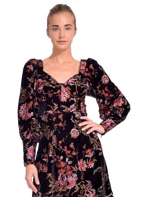 Sabina Musayev Vera Floral Embroidered Velvet Top Front View X1https://cdn11.bigcommerce.com/s-3wu6n/products/33667/images/111651/DSC_0987__19184.1609463784.244.365.jpg?c=2X2