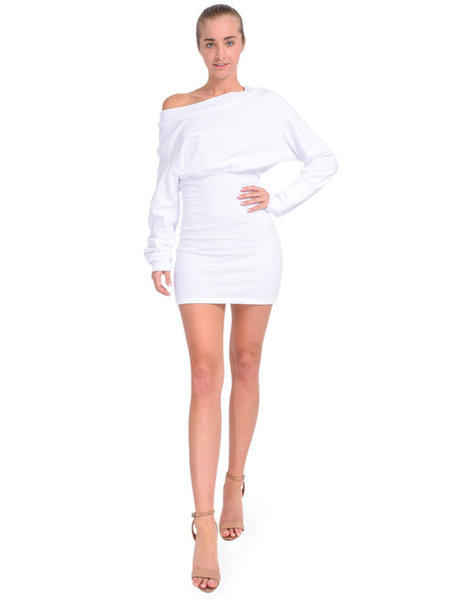 RTA Rachele Off-Shoulder Dress Front View x1https://cdn11.bigcommerce.com/s-3wu6n/products/33758/images/112066/DSC_0350__16236.1614646175.244.365.jpg?c=2x2