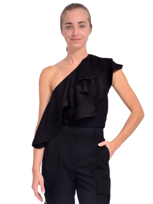 3.1 Phillip Lim Ruffled One Shoulder Top in Black Front View  x1https://cdn11.bigcommerce.com/s-3wu6n/products/33770/images/112107/DSC_0550_Full__06156.1614652954.244.365.jpg?c=2x2
