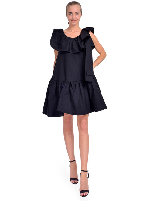 3.1 Phillip Lim Sleeveless Ruffle Neck Dress in Black Front View  X1https://cdn11.bigcommerce.com/s-3wu6n/products/33774/images/112127/DSC_0563__80547.1614655820.244.365.jpg?c=2x2