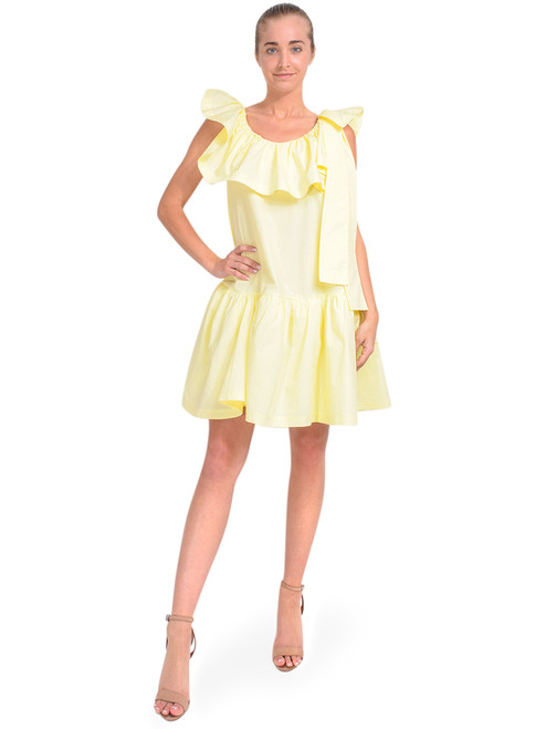 3.1 Phillip Lim Sleeveless Ruffle Neck Dress in Yellow Front View x1https://cdn11.bigcommerce.com/s-3wu6n/products/33775/images/112134/DSC_0215__54508.1614656043.244.365.jpg?c=2x2
